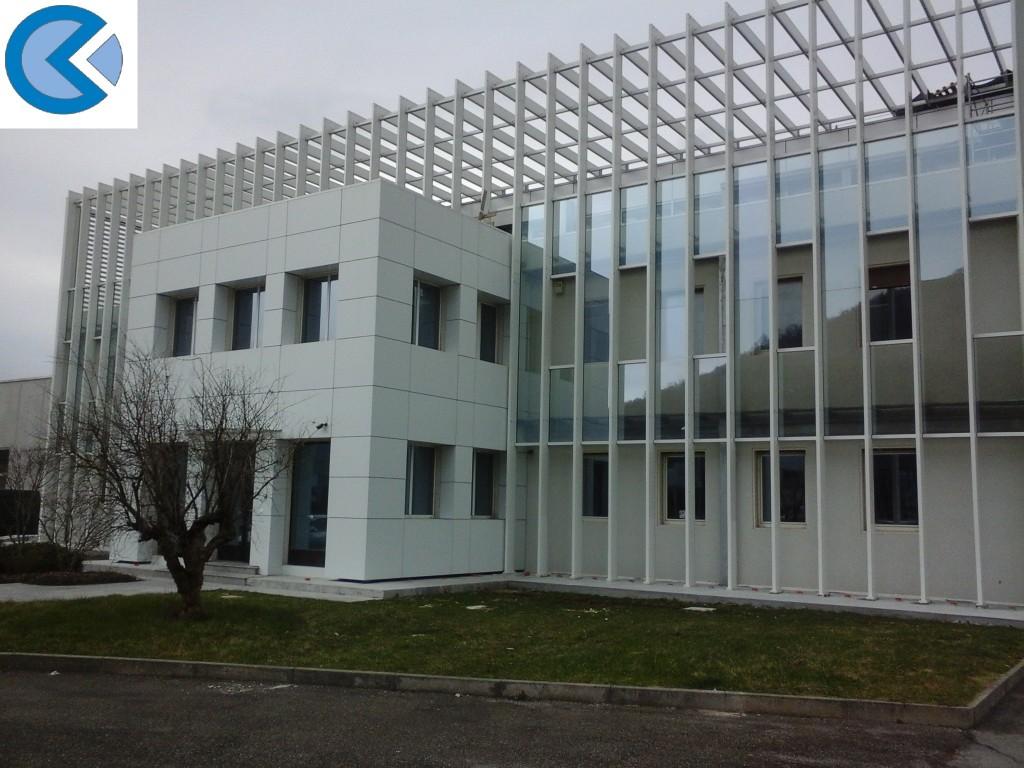Aluminum facade continues